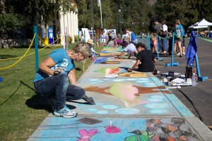 rue, peinture, art, de la craie, des artistes