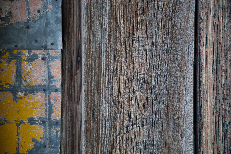 Free photograph; various, surfaces, textures, buildings, including, wood, concrete