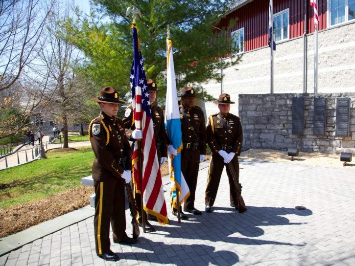 flags, memorial, solders, ceremony