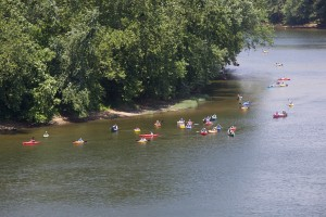 group, float, kayaking