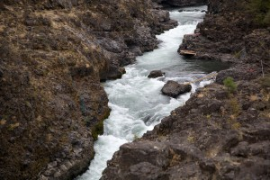 rushing, waters, Klickitat, river