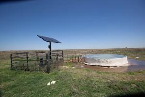 solaire, eau, réservoir