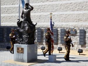 solders, ceremony, statue