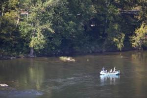 sport, bateau, pêcheurs, rafting, loisirs, famille