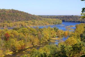 proud, řeka, Scénic, podzimní