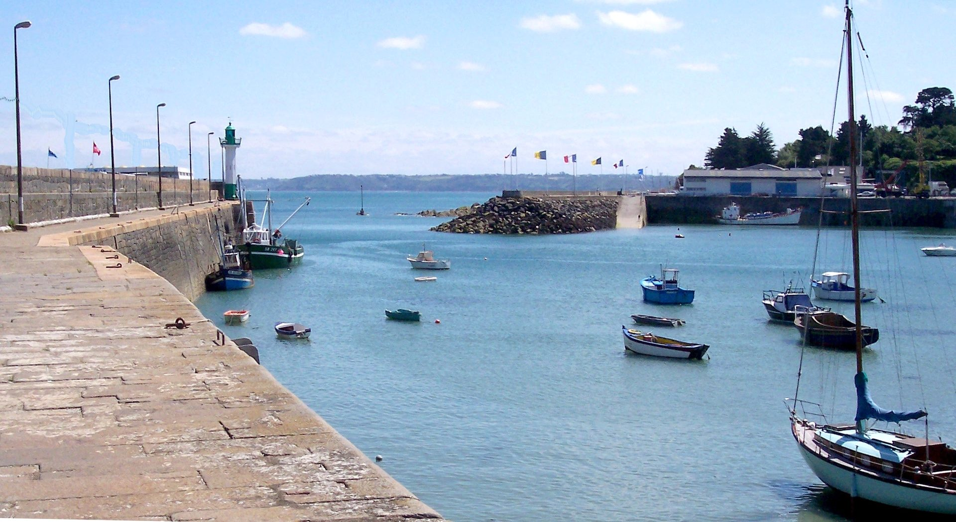 Free photograph; harbor, port, Bretagne