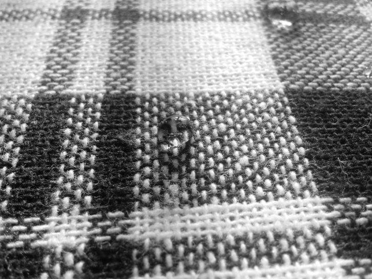reflection drops, tablecloth