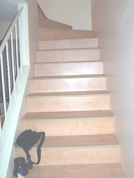stairs, home interior, wooden stairs