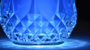 blue, reflection, crystal, art, blue