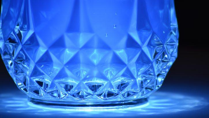 bleu, réflexion, cristal, art, bleu