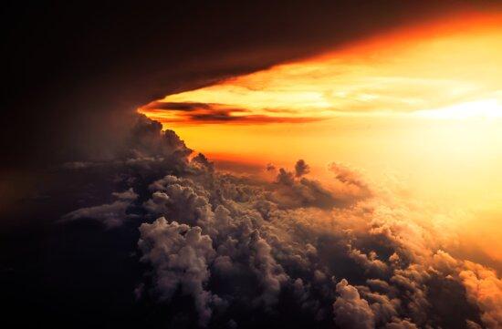 cloud, dawn, dramatic, dusk, evening, sunset, weather