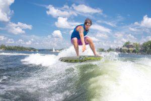 lake, man, surfer, water, sports, waves
