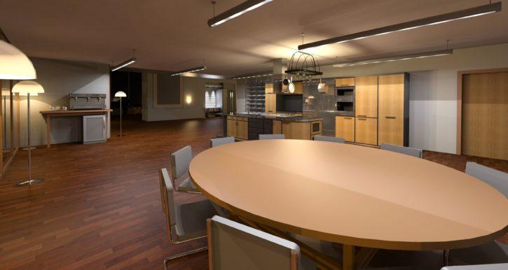 foto gratis: architettura, sala da pranzo, tavolo, terra, mobili ... - Design Soggiorno Pranzo