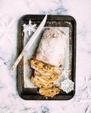 pain, gâteau, nourriture, couteau, tranche, flocons