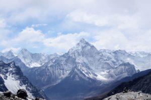 nature, sky, snow, clouds, landscape, mountain