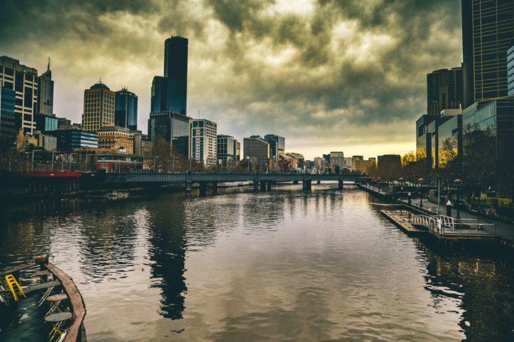neboder, oluja, arhitektura, most, zgrade, grad, urbani, luka