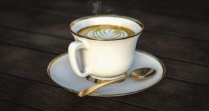 stůl, dřevěné, nápoje, kofein, cappuccino, káva, pohár