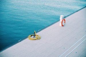 buoy, deck, hose, ocean, safety, sea, ship, water
