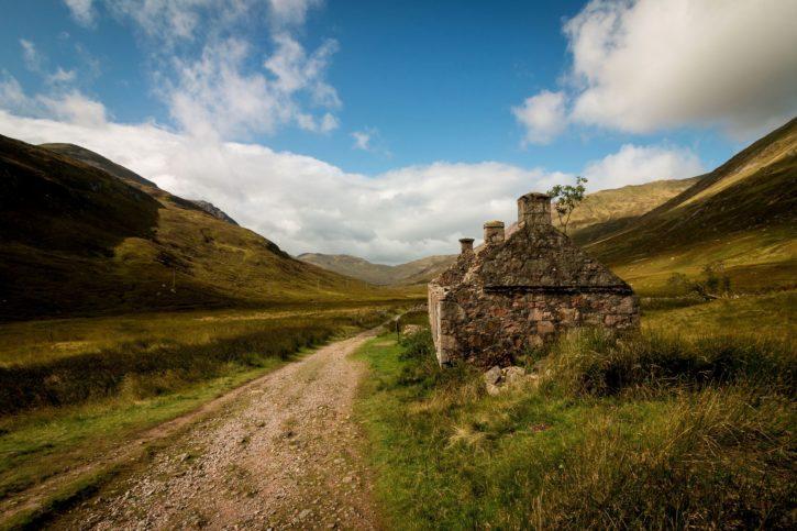 hory, venku, silnice, na venkově, mraky, venkov, tráva