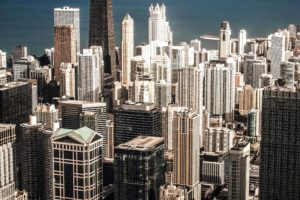 bygninger, byen, skyskraber, urban, arkitektur