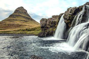 floden, klipper, scenic, strøm, vand, cascade, landskab, bjerg, natur