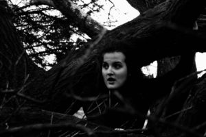 girl, art, outdoors, tree, black and white