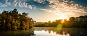 Fluss, Sonnenaufgang, Sonnenuntergang, Reflexion, Bäume, Wasser