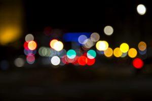 barevná světla, osvětlení, rozmazané, barvy, světla, noční