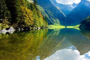 krajolik, planine, priroda, jezera, odraz, Rijeka, rock, šume