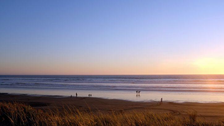 oceán, more, shore, neba, beach, tráva, príroda