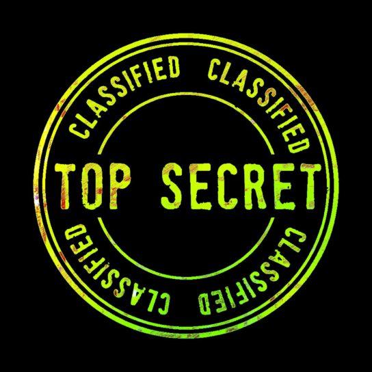tecken, Synn, sekretessbelagd handling, Top secret, secret