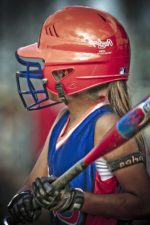 baseball player, girl, sport, game, athlete, helmet