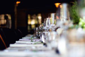 verre, vin, table, bougie, célébration, chaises