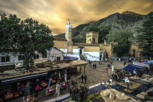 castle, church, architecture, evening, street, tourists, town