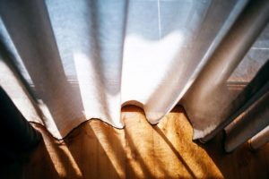 sunlight, window, wooden floor, curtains, room, shadows