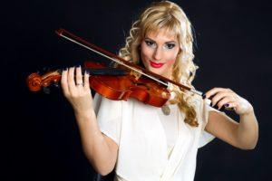 beautiful woman, instrument, musician, concert, girl, violin