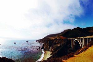Bahía, Playa, puente, costa, cielo, verano, amanecer, atardecer, viaje, agua, ondas