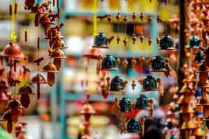 basaari, kelloja, kaiverruksia, juhla, värit, koristelu, festival, arket