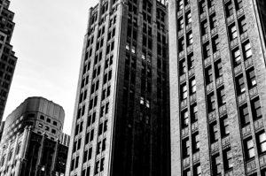 κτίρια, σύννεφα, ουρανοξύστες, αρχιτεκτονική