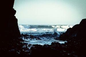 στον ωκεανό, βράχια, παραλία, ακτή, φύση, θάλασσα, Θαλασσογραφία, αιγιαλού, κύματα
