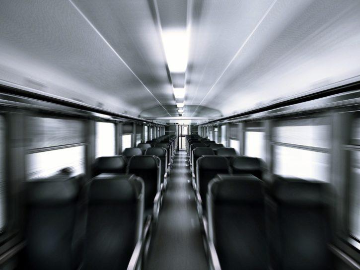Interno di treno, trasporto, sistema di trasporto, viaggiare, viaggio