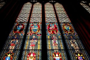 stained glass, cathedral windows, church, art, arched window