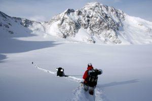 Mann, Bergsteiger, felsig, Schnee, Berg, Winter, Abenteuer, Kälte, Wandern