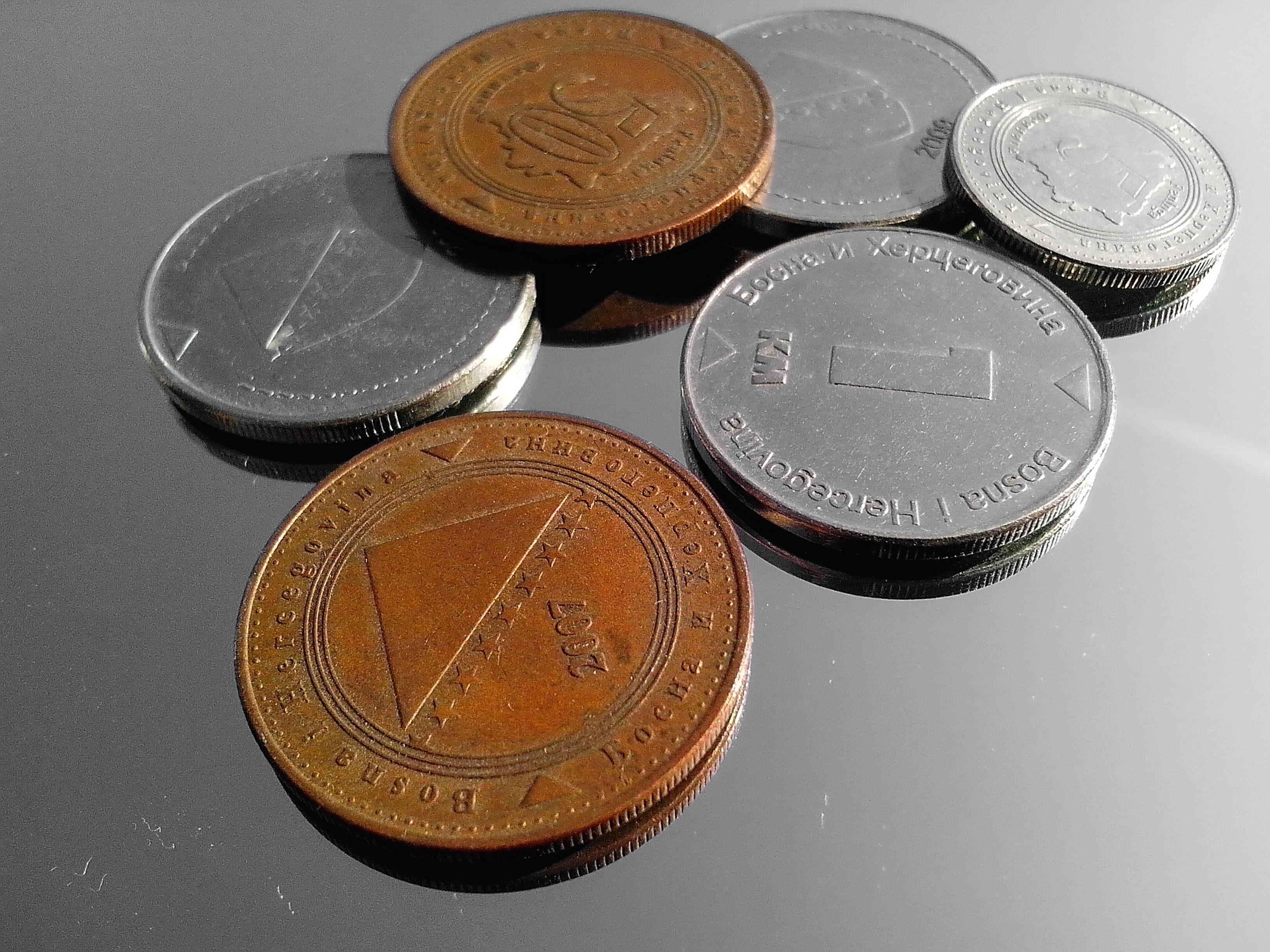 Kostenlose Bild: Bosnien und Herzegowina, Metall-Münzen