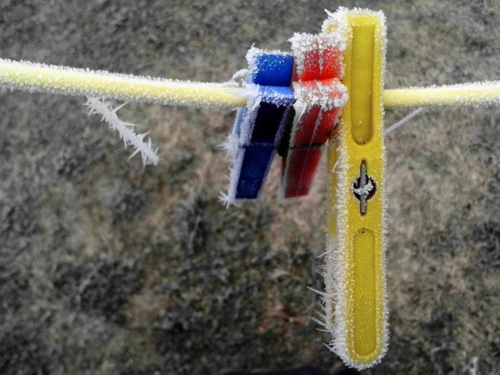 frozen plastic, frost, ice