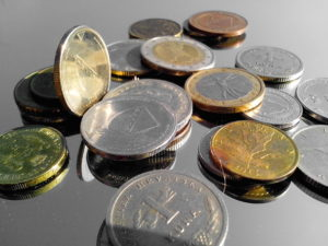 metal coins, coins, money
