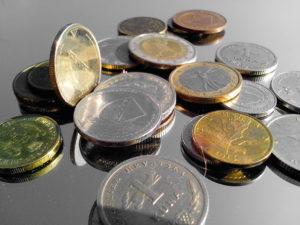 monedas de metal, monedas, dinero