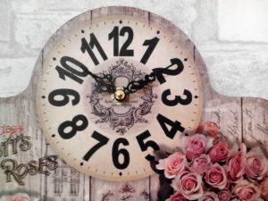 vintage clock, old fashioned design