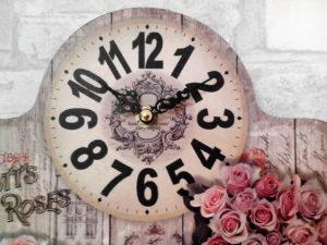 vintage clock, old fashioned design