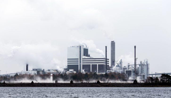 fabriek, industriële stad, industrie, hemel, smog, rook, stoom, technologie, water